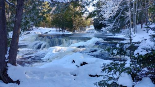 Waterfalls, Iron County Michigan and Chicaugon Lake Inn
