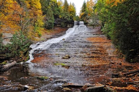 Michigan waterfalls - laughing whitefish falls; and stay at Chicaugon Lake Inn