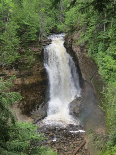 Visit waterfalls around Iron County Michigan, stay at Chicaugon Lake Inn